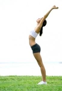 упражнение женщины для правильной осанки