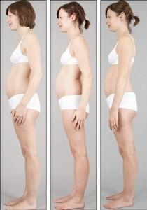 одна и таже женщина в разных стадиях беременности