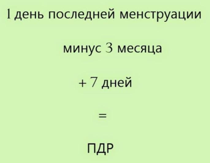 формула определения даты родов