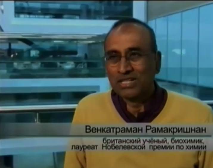 Венкатраман Рамакришнан британский ученый, биохимик, лауреат Нобелевской премии по химии.