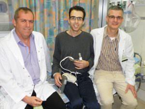 На фото пациент с дважды пересаженным сердцем
